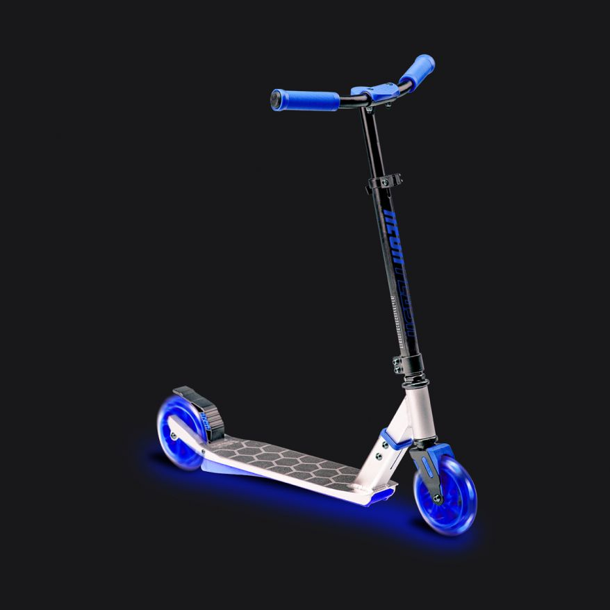Neon Flash Scooter Azul