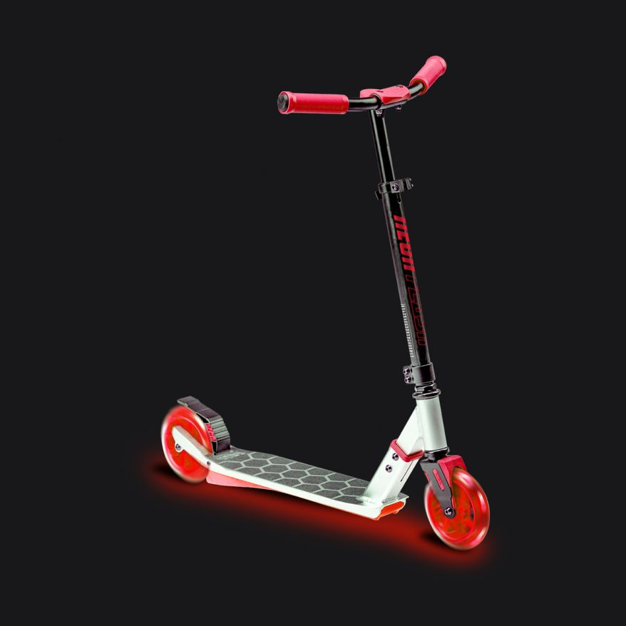 Neon Flash Scooter Rot