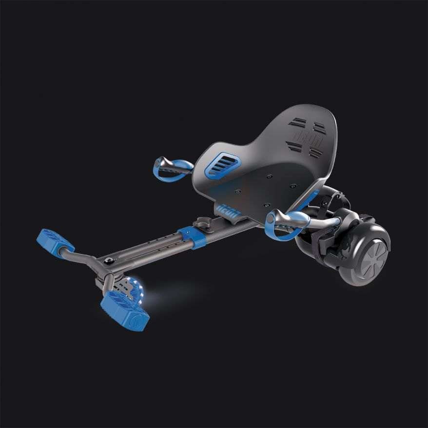 Neon HoverKart Blue Hoverboard Attachment